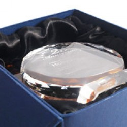 水晶獎座包裝和保養