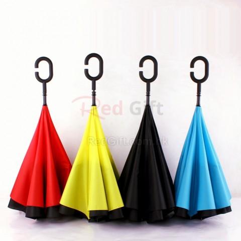 免提雙層雨傘